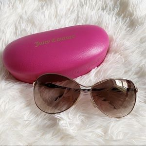 Juicy Couture Gold Trim Sunglasses with Heart